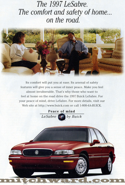 Mitch Ward's archived ad for Buick LeSabre