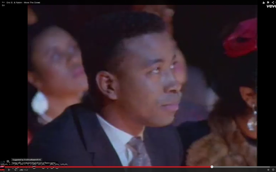 """Mitch Ward featured actor in Eric B & Rakim video - """"Move the Crowd"""""""